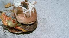 Hamburger Exploding into pieces Stock Footage