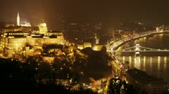 Budapest by Night 16 Stock Footage