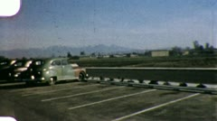 OLD TIMEY Classic Cars PARKING LOT 1940s (Vintage Film Home Movie) 6002 Stock Footage