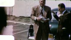 PROUD NEW OWNER USED CAR LOT 1960s (Vintage Retro Amateur Home Movie Film) 6003 Stock Footage