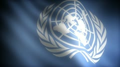 Flag of United Nations Stock Footage