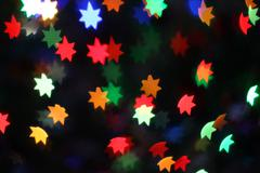 Neon stars holiday background Stock Photos
