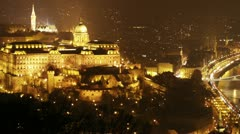 Budapest by Night 20 pan Stock Footage