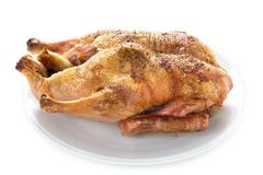 Cooked duck isolated Stock Photos
