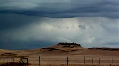 Thunder and Lightening Storm over Sierra Foothills Stock Footage