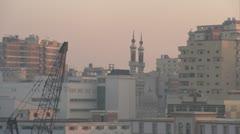 Egypt, Port Alexandria skyline, slow dolly Stock Footage