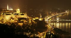 4K Budapest by Night Stock Footage