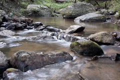 Streams, waterfalls, natural. Stock Photos