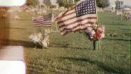 MEMORIAL DAY FLAGS Graveyard 1950s (Vintage Film Amateur Home Movie) 6014 Stock Footage