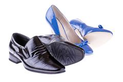 Men's and women's shoes Stock Photos