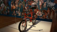 Raleigh Chopper one, 1970's bike - stock footage