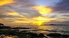 Sunset seaview Stock Footage