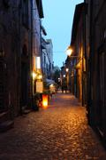 Bracciano street - stock photo