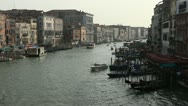 Stock Video Footage of Venice, Italy Aerial View of Grand Canal, Beautiful View from Rialto Bridge