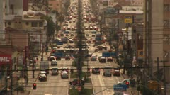 Rush Hour Traffic on the city Stock Footage