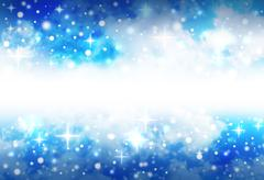 bright star space background with sparkles - stock photo