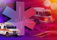 medical rescue ambulance abstract photo - stock photo