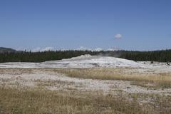 yellowstone grand tetons geyser - stock photo