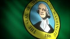 Flag of Washington - stock footage