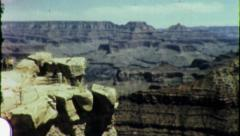 Grand Canyon NATIONAL PARK Scenic Vista 1960s Vintage Film Home Movie 6021 Stock Footage