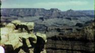 Stock Video Footage of Grand Canyon NATIONAL PARK Scenic Vista 1960s Vintage Film Home Movie 6021