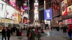 Stock Video Footage of New York City Broadway Times Square