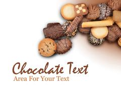 cookie assortment on white background - stock photo