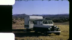 Willys Jeep Station Wagon 1960s Vintage Retro Film Home Movie 6025 Stock Footage