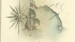 Antique Pirate Maps Stock Footage