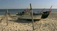 Fishing Boats on the Beach on Rügen Island - Baltic Sea, Germany Stock Footage