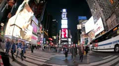 Times Square FIsh EYe - stock footage