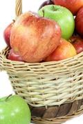 Fall apples assorts close view. - stock photo