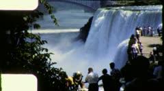 Tourists NIAGARA FALLS Natural Wonder 1950s Vintage Retro Film Home Movie 6029 Stock Footage
