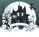 Halloween dark back Stock Illustration
