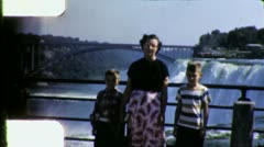 NIAGARA FALLS Irate ANGRY Tourist Family 1950s Vintage Film Home Movie 6030 Stock Footage