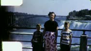 Stock Video Footage of NIAGARA FALLS Irate ANGRY Tourist Family 1950s Vintage Film Home Movie 6030