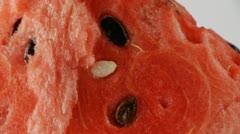Watermelon slice closeup Stock Footage