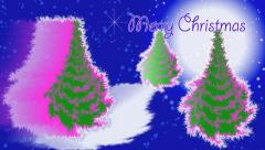 """Merry Christmas"" title. Stock Footage"