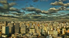 Sao Paulo Brazil skyline sunset time lapse Stock Footage