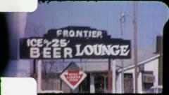 SMALL TOWN TEXAS USA Through the Windshield 1960s Vintage Film Home Movie 6039 Stock Footage