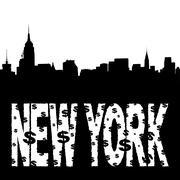 Midtown skyline new york teksti Piirros
