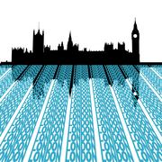 Parliament with london text Stock Illustration