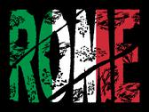 Grunge rome text with flag Stock Illustration