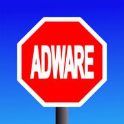 stop adware sign - stock illustration
