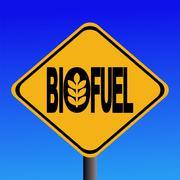 Warning biofuel sign Stock Illustration