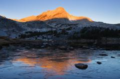 Icy mountain lake Stock Photos