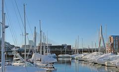 Stock Photo of boston harbour in sunny ambiance