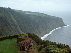 Rocky coastal scenery at the azores Stock Photos