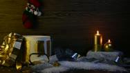 Christmas scene Stock Footage
