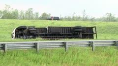 Tornado Flips Truck Stock Footage